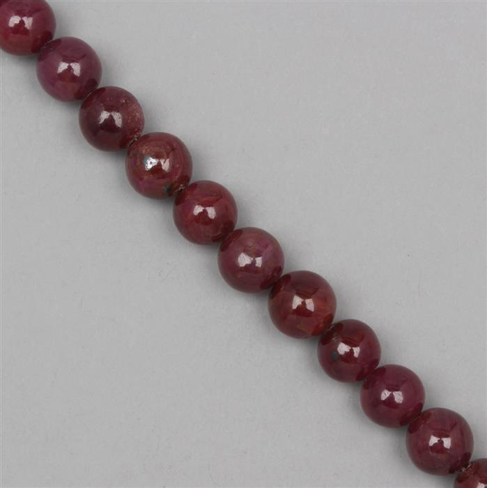 240cts Ruby Plain Rounds Approx 11mm