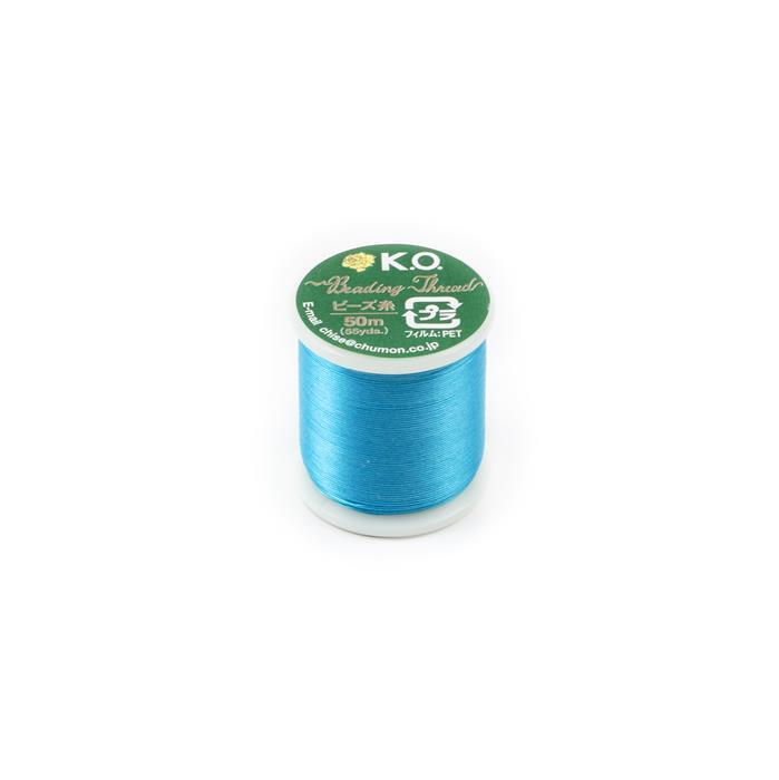 KO Beading Thread Turquoise Approx 50m