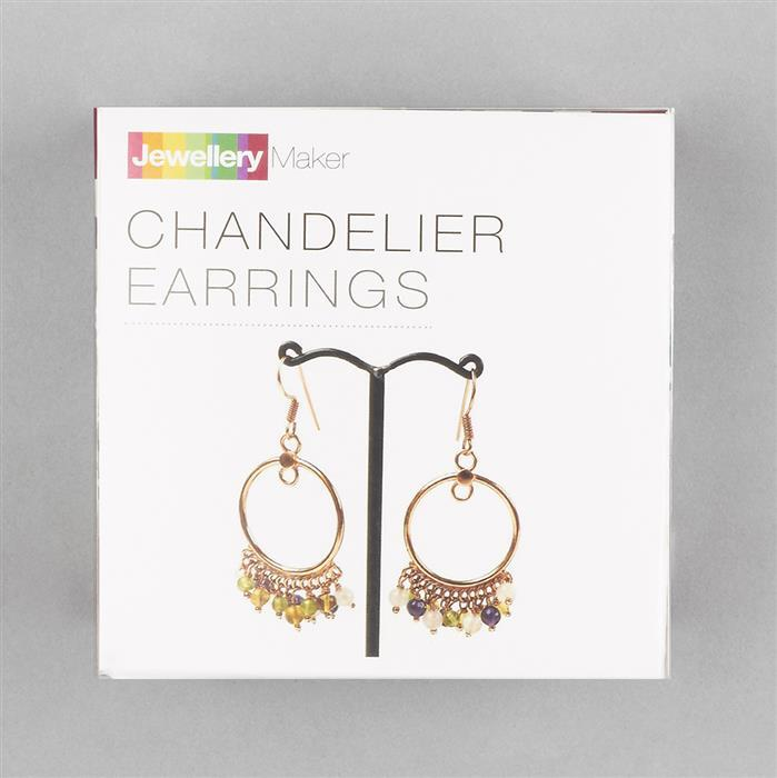 Rose Gold Plated Copper Chandelier Earrings Project Kit Inc. Instructions (Approx 90Pcs)