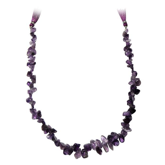 170cts Amethyst Graduated Drop Style Nuggets Approx 7x5 to 11x4mm, 37cm Strand.