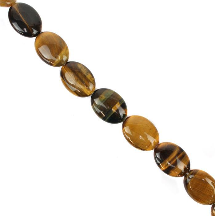 360cts Tigers Eye Puffy Ovals Approx 25x18mm, 38cm Strand