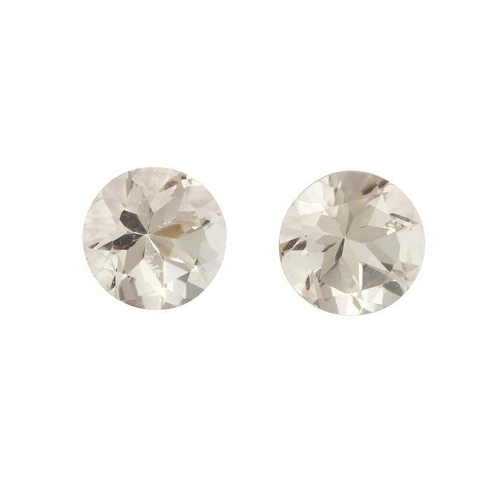3.25cts Serenite Brilliant Round Approx 8.00x8.00mm 2 pack