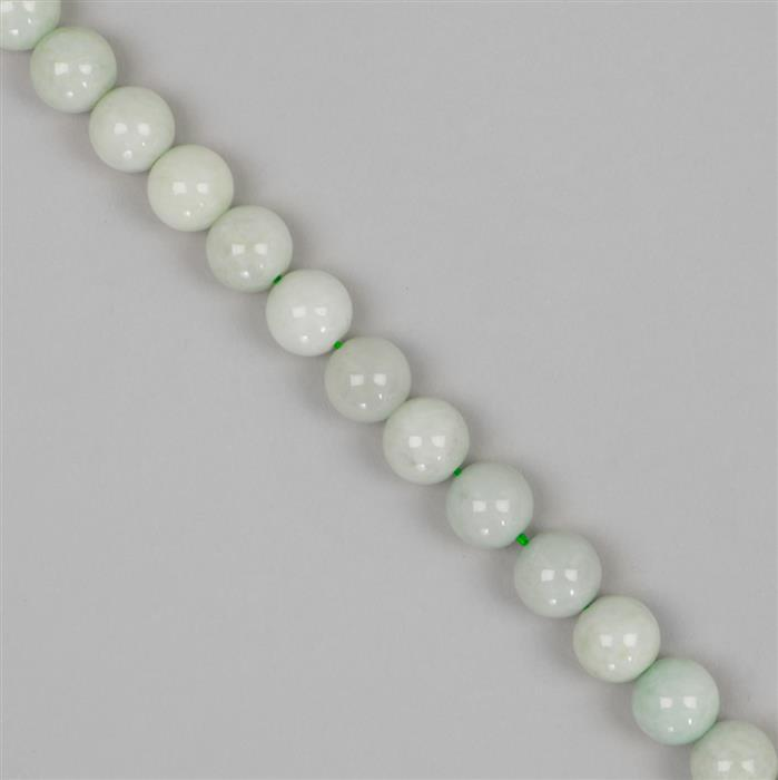 330cts Jadeite Plain Rounds Approx 10mm,38cm strand