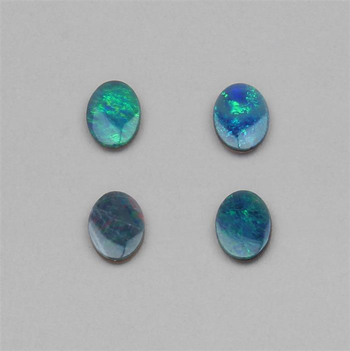 2.50cts Doublet Boulder Opal Oval Cabochons Approx 8x6mm.