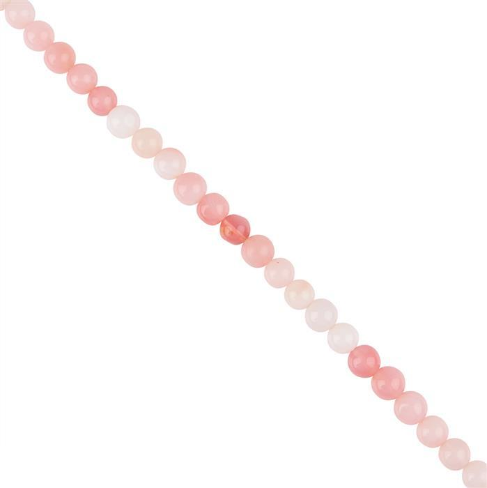 62cts Ombre Pink Opal Plain Rounds Approx 7 to 8mm, 18cm Strand.