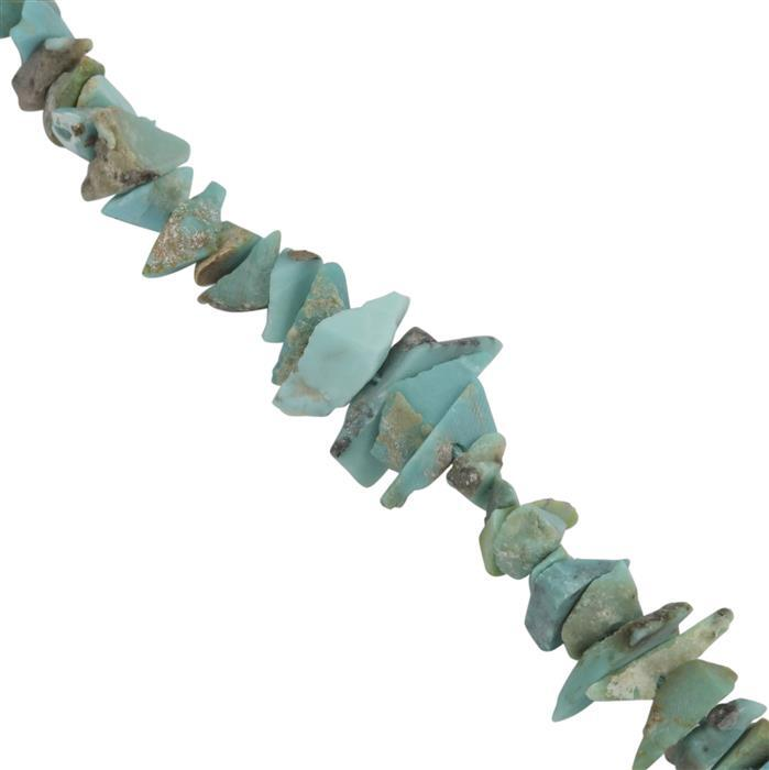 30cts Turquoise Graduated Rough Nuggets Approx 4.5x1.5 to 10x4.5mm, 20Cms Strand