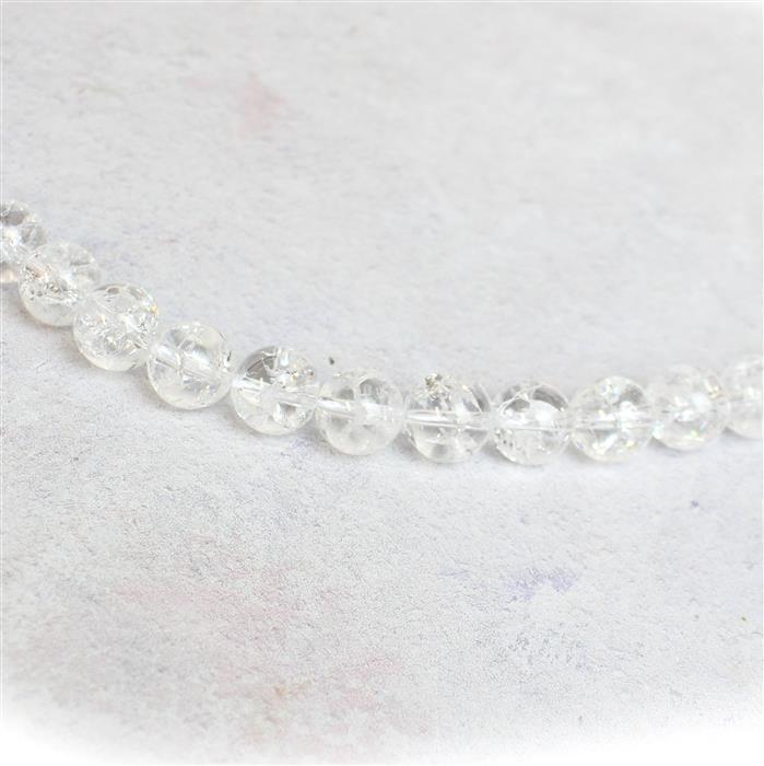 380cts Crackled Quartz Plain Rounds Approx 12mm, 38cm strand