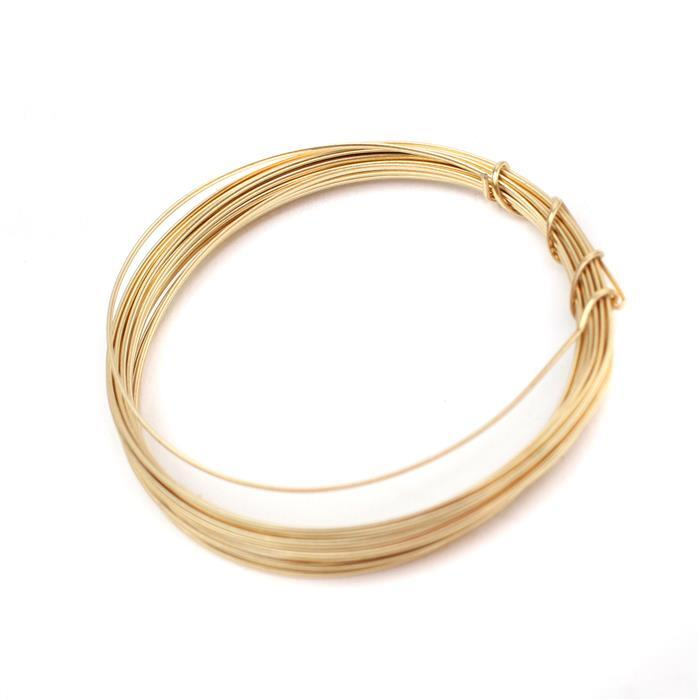 3m Champagne Gold Coloured Copper Half Round Wire Approx 1.00mm